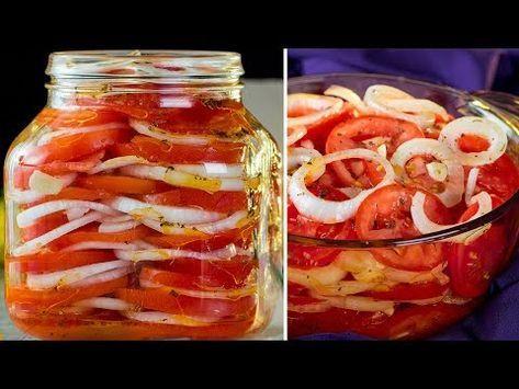 Pomidory W Sloiku Smaczna I Pachnaca Przystawka Ktora Mozna Docenic Nastepnego Dnia Smaczny Tv Youtube Tomato Salad Tasty Food