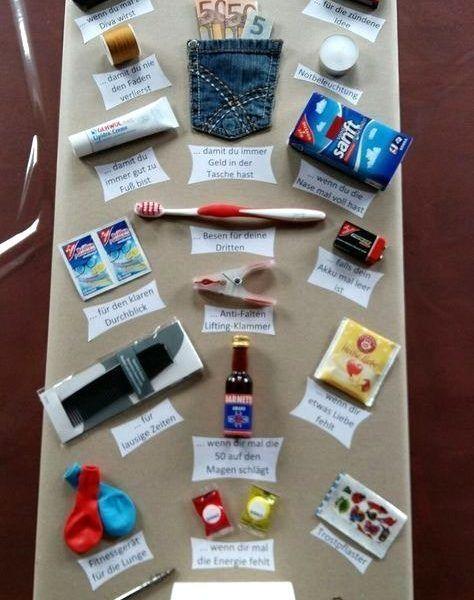 Schoene Ideen Lustige Geschenke Zum 50 Geburtstag Selber Machen
