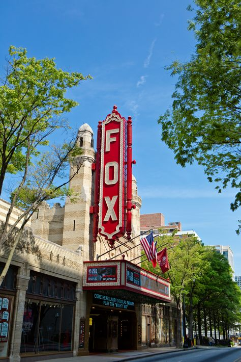 The fabulous Fox Theatre in Atlanta, on Peachtree Street. the Fox. if you ever have the chance, you HAVE to go! see my pin of the ceiling there, I could look at it all night!