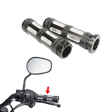 "Motorcycle CNC Edge Cut 1/""25mm Handle Bar Hand Grips For Harley Honda Yamaha USA"