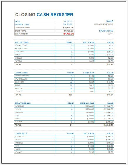 Excel Templates Closing Cash Register Template For Ms Excel Excel Templates Eab8ee00 Resumesample Bookkeeping Templates Balance Sheet Template Excel Templates