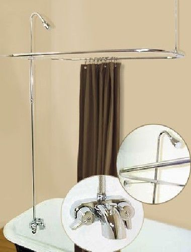 Details About Add A Shower Converter Kit For Clawfoot Tub With