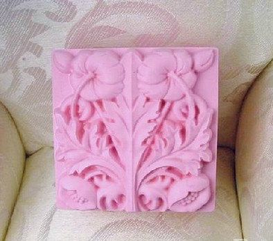 Soap Mold Candle Molds Square Flower Christmas Gift  Silicone Mold, For Soap, Candy,Cake, Ice,Craft. $5.99, via Etsy.
