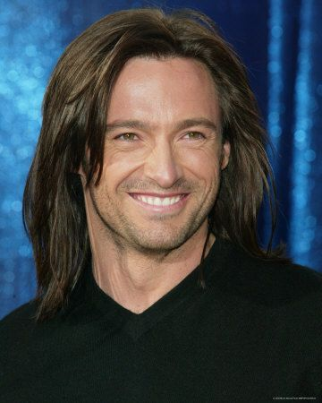 Hugh Jackman And Shoulder Length Hair What A Combo Hugh Jackman Jackman Wolverine Hugh Jackman