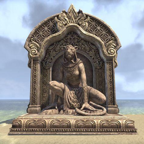 The Elder Scrolls Online Wrathstone Tablet Polystone Statue 7x10 Elsweyr Skyrim