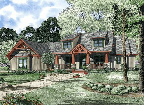 House Plan 1268 Scenic View Nelson Design Group Bungalow Style