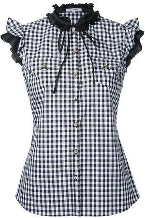 e54d742dd6d7d9 Women Tank Tops - Gingham frilled sleeveless shirt - women - Cotton - 36