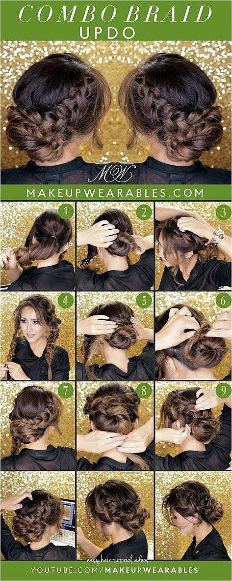 Curly Romantic Bun Holiday Updo Hairstyles Cute Easy Hair Style Easybraid Braidedhair Click To S Hair Styles Long Hair Styles Easy Updos For Long Hair