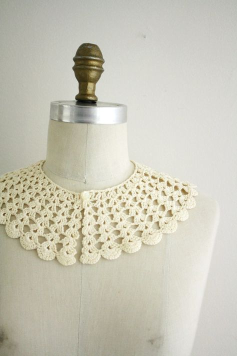 on etsy crochet collar