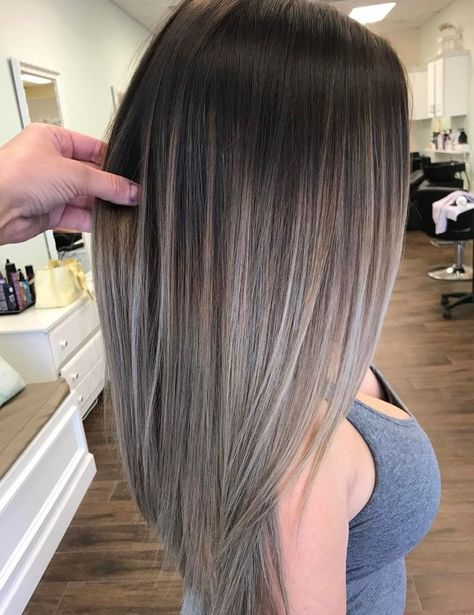 35 Balayage Hair Color Ideas for Brunettes in The French hair coloring technique: Balayage. These 35 balayage hair color ideas for brunettes in 2019 allow to achieve a more natural and modern eff., Balayage Source by shortpixiecut Grey Balayage, Hair Color Balayage, Hair Highlights, Caramel Highlights, Color Highlights, Hair Bayalage, Caramel Balayage, Highlights For Brunettes, Caramel Ombre
