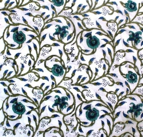Dressmaking Hand Block Print Cotton Voile Craft Supplies Sewing Fabric By 1 Yd