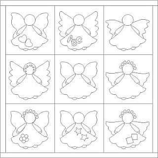 Patrones de angelitos. Angels patterns