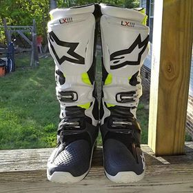 Alpinestars Tech 7 Boots-Yellow Flo//White//Blue//Cyan-5