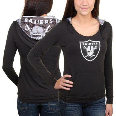 Oakland Raiders Ladies Sublime Knit Hoodie - Black