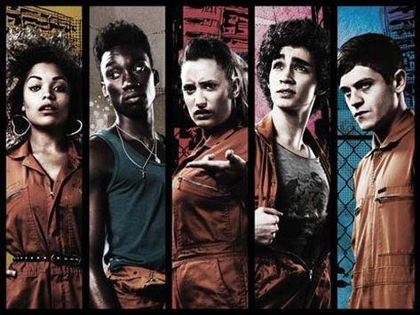 Misfits! I cannot properly express how much I love this show. It's a British comedy-drama about a group of irreverent juvenile delinquents who get struck by lightning and then develop supernatural powers!