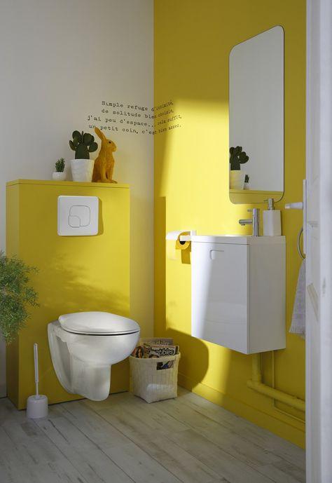 Un Wc Suspendu Pour Un Esprit Contemporain Dans Vos Toilettes Deco Toilettes Peinture Toilettes Deco Wc