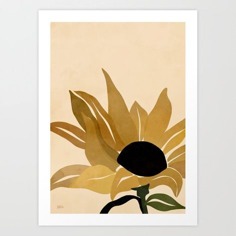 Sunflower Art Print by Briapaints - X-Small