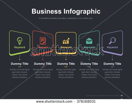 Flat business presentation vector slide template with hand shake - business presentation