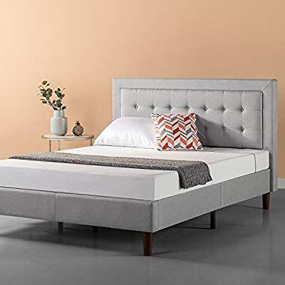 Amazon Com Zinus Upholstered Button Tufted Premium Platform Bed