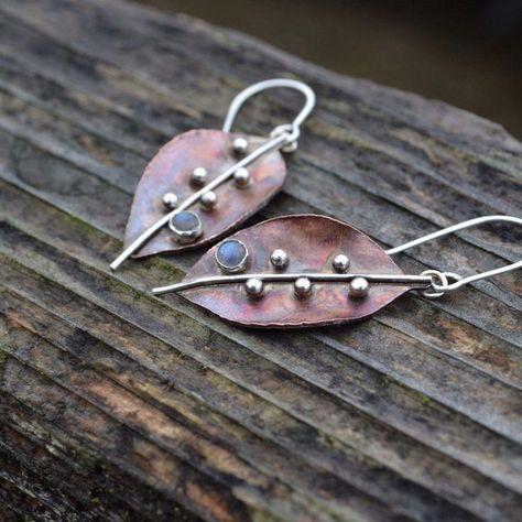 Lucky Brand chandeliar Drop Leaf Dangle Perles Vintage silver Percé Boucles D/'oreilles