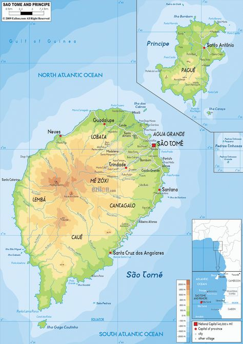 Mapas De Sao Tome E Principe Sao Tome E Principe Mapa Sao Tome