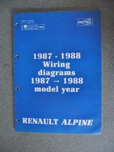 renault alpine wiring diagrams manual 1987 1988 7711083983 nt8038 on Alpine IVA D310 Wiring-Diagram for renault alpine wiring diagrams manual 1987 1988 7711083983 nt8038 jacks workshop manuals for sale pinterest at Corvette Wiring Diagrams