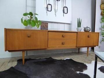 Retro Teak Tv Kast.Vintage Dressoir 1 78 M Deens Design Lowboard Retro Tv Kast