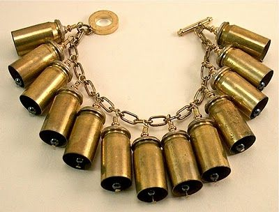 @Sarah Durham could you do something like this?? Like you did my mom's wreath? But with 9mm casings?