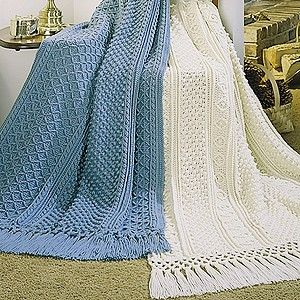 Galway and Cork Afghans Crochet ePattern Fisherman crochet is the texture formed on the right side, leaving the wrong side with the appearance of solid single .
