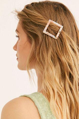 Resin Shapes Clip Set Hair Styles Hair Beauty Long Hair Styles