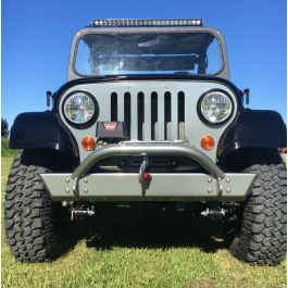 On The Rox Front Bumper With D Rings Mounts And Stinger Mahindra