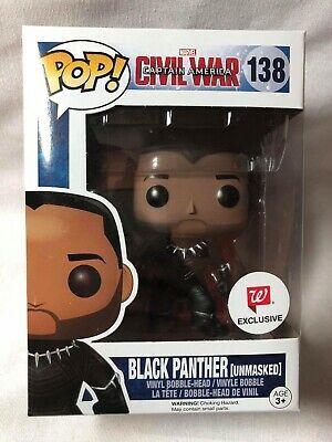 Bobble-Head Black Black Panther Civil War Funko Pop