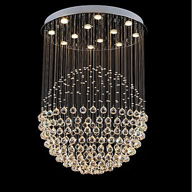 625 19 12 Bulbs 80 Cm Crystal Bulb Included Designers Chandelier Metal Crystal Electroplated Chic Modern 110 120v 220 240v Led Pendant Lights Pendant Ceiling Lamp Crystal Chandelier