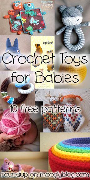 Todo bebé merece un juguete precioso ganchillo - aquí hay 10 patrones libres perfecto para cada nuevo bebé!  {} Mooglyblog.com