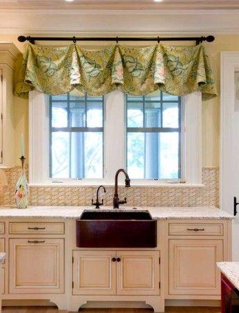 صور ستائر رائعه للمطبخ سيدات مصر Shabby Chic Kitchen Curtains Kitchen Window Treatments Modern Kitchen Curtains