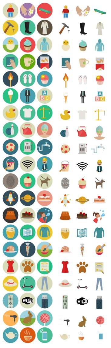 60 Flat Icones Icone Web Icone Pictogramme