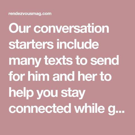 Conversation Starters - Rendezvous Magazine
