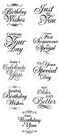 The 126 Best Card Birthday In A Circleoval Images On Pinterest