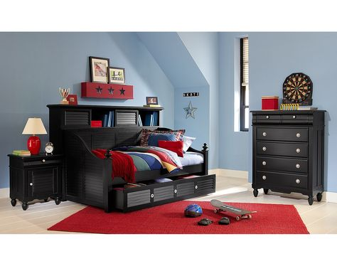 The Seaside Black Ii Collection Value City Furniture Black