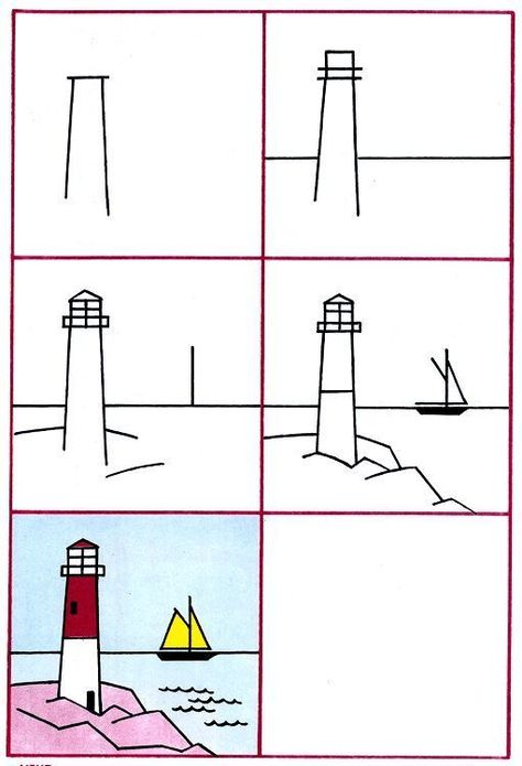 die 8 besten bilder zu leuchtturm zeichnung  leuchtturm