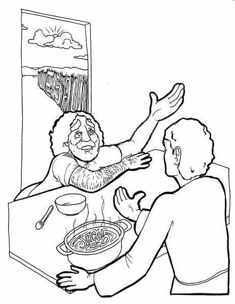 Jacob And Esau Coloring Page Pdf | Coloring Page Blog