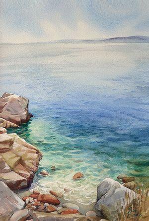 J Evans 5 Jpg Dessin Nature Morte Peinture Mer Mer Aquarelle