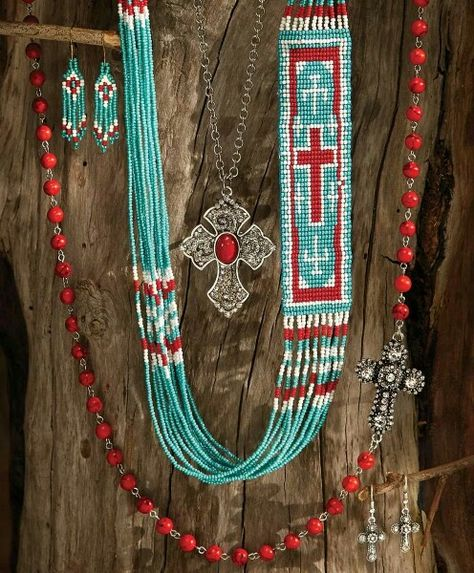 Red and Turquoise