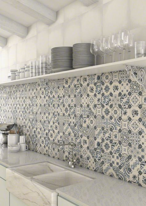 Patterned splashback HOME RENOVATION Pinterest Patterns - ideen für badezimmer fliesen