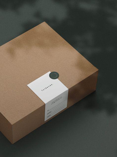 Fuldende Branding & Identity Design — f u l d e n d e . Brownie Packaging, Food Box Packaging, Packaging Stickers, Dessert Packaging, Bakery Packaging, Food Packaging Design, Packaging Design Inspiration, Brand Packaging, Skincare Packaging
