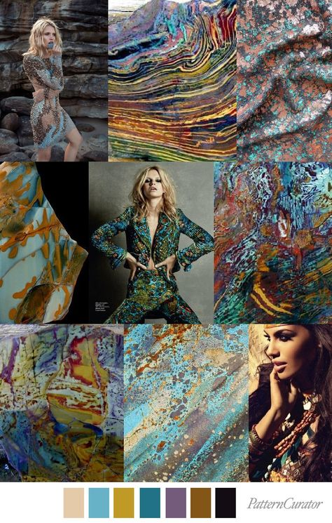 KALEIDOSCOPE JASPER – Pattern Curator - gorgeous mood board and a color palette of blues and browns