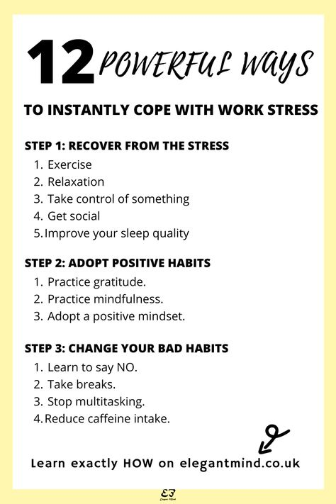 These 12 stress management techniques will help you cope with stress and boost your productivity and motivation. Click for details of these stress management activities!