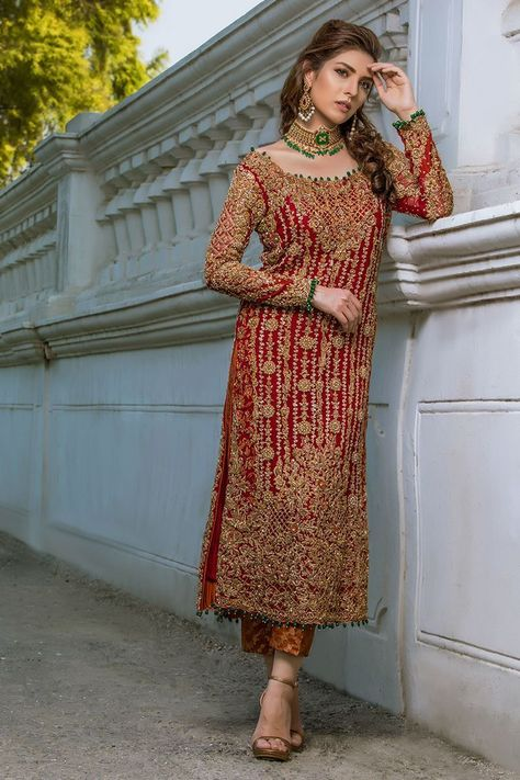 Pakistani Party Wear Embroidered Shirts Designs contains formal, party & wedding wear shirts with stonework, zari, heavy thread embroideries!