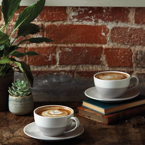 Coffee Studio Cappuccino Cup & Saucer Set by Royal Doulton- Coffee Studio Cappuccino Cup & Saucer Set by Royal Doulton - Rustic Coffee Shop, Coffee Cafe, Cozy Coffee Shop, Cappuccino Tassen, Cappuccino Cups, Royal Doulton, Coffee Shop Aesthetic, Cosy Aesthetic, Latte Cups