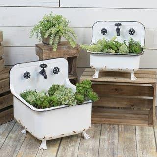 Our Best Decorative Accessories Deals In 2020 Vintage Garden Decor Vintage Garden Planters
